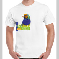 Save the Gouldian Finch Colour Gildan Adult Ultra Cotton tee